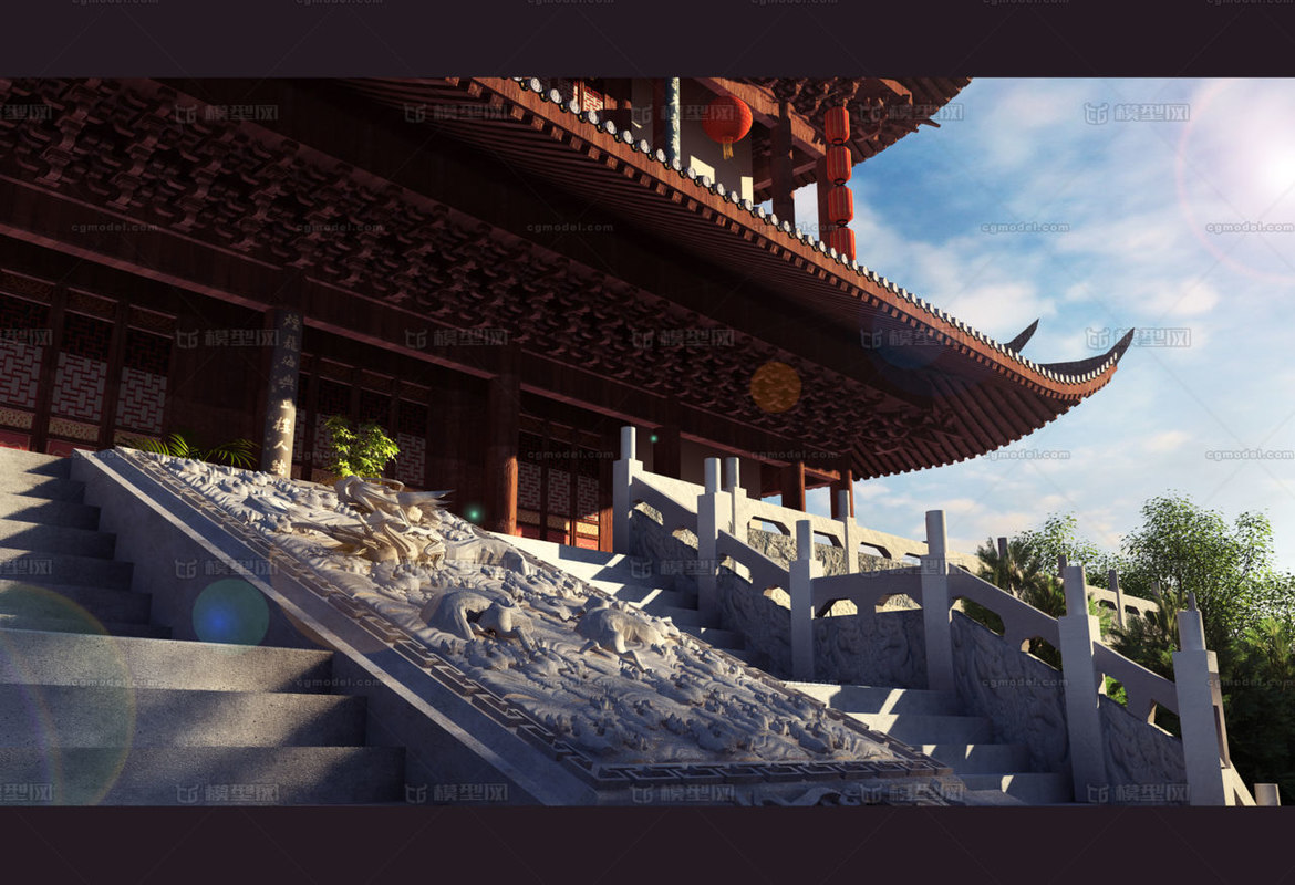 3D chinese traditional architecture