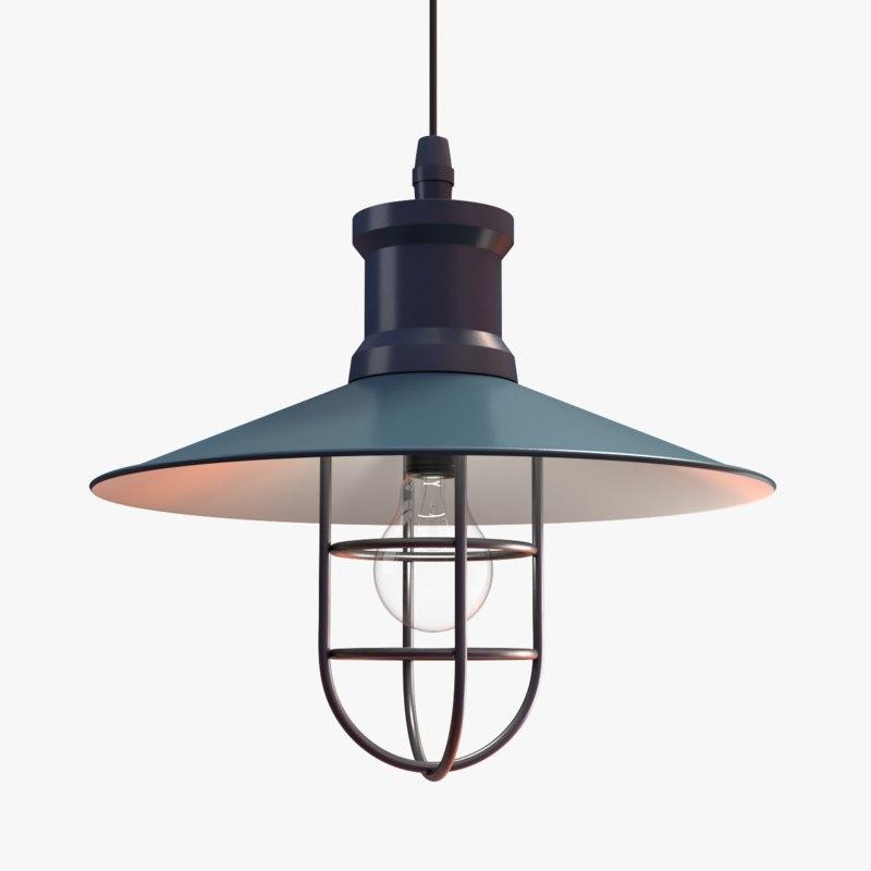 industrial pendant lamp 3D model