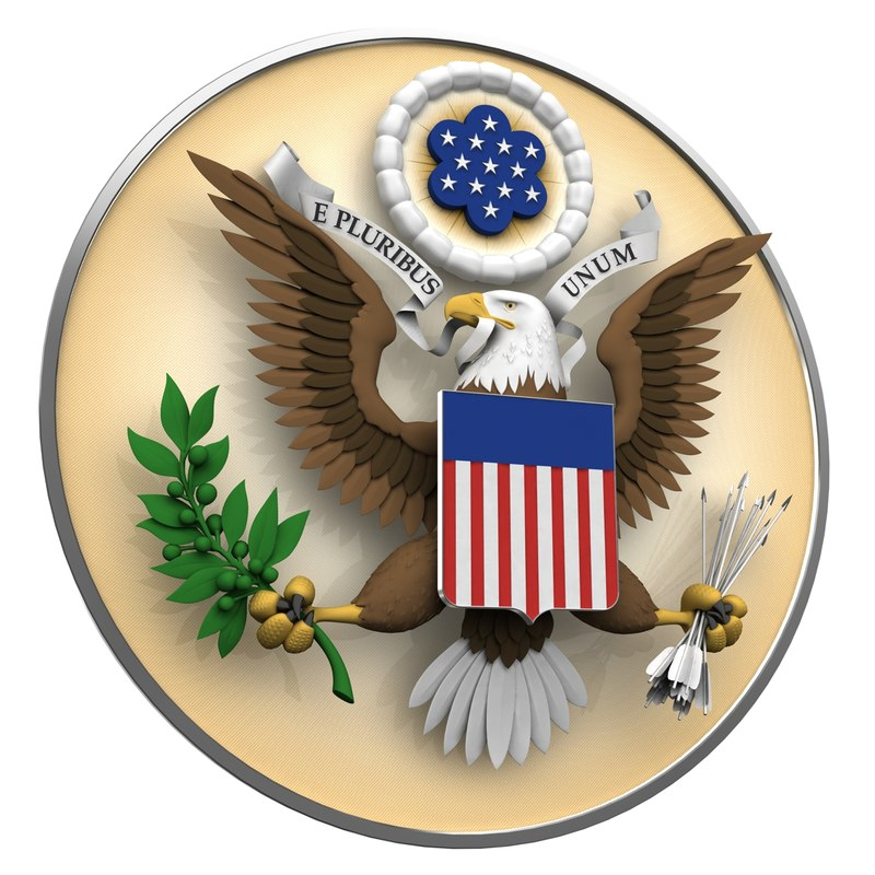 great seal united states 3D model