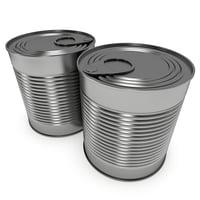 aluminium metal canned food 3D model