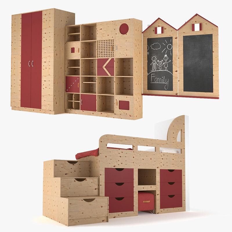 furniture children room 3D
