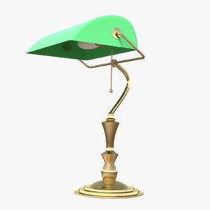 banker s lamp 3D model