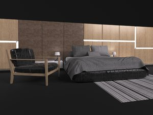3D sits contemporary model