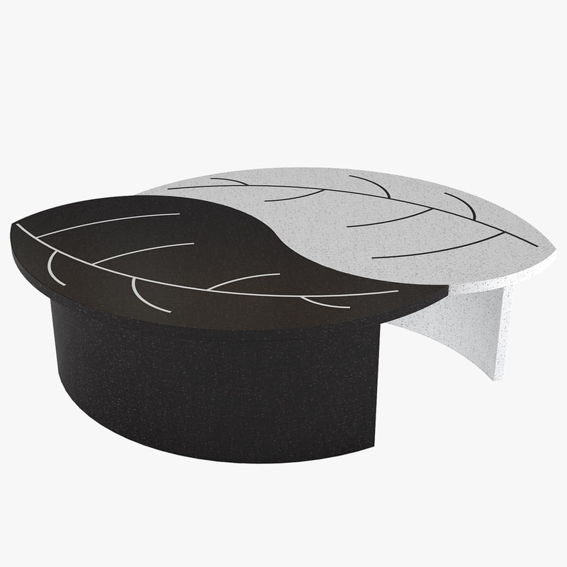 3D coffee table leaves