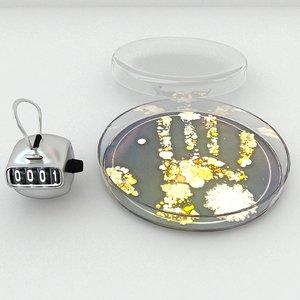 petri dish bacteria 3D