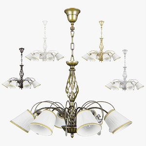 3D chandelier 682186 white 796181