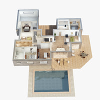 lighting floor plan scene model