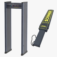 3D metal detectors handheld body