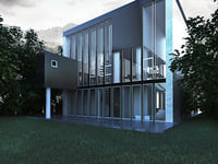 3D model two-storey country house modern
