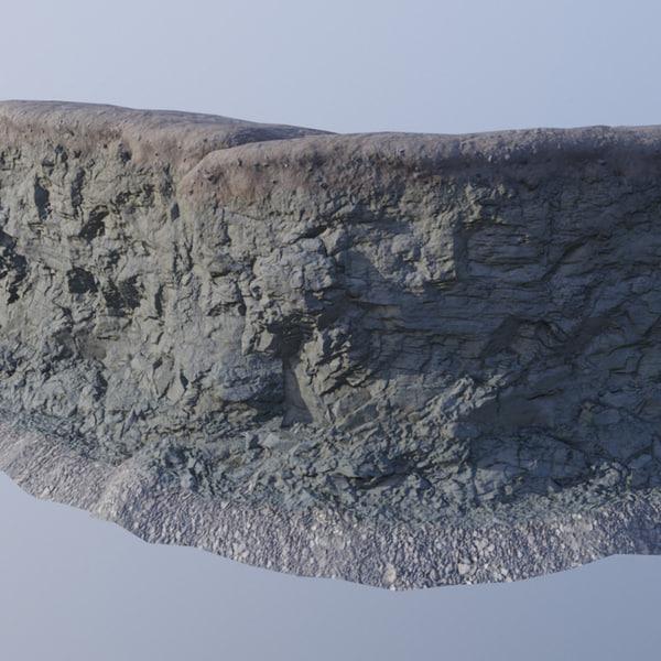 modular cliff 3D model
