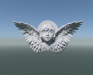 3D angel cherub