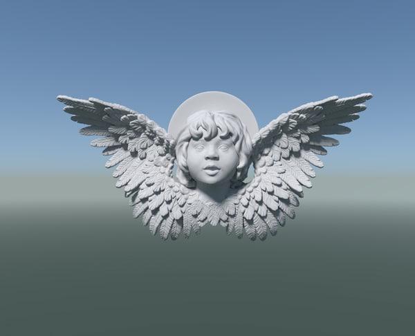3D angel cherub