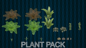 plant pack 3D model