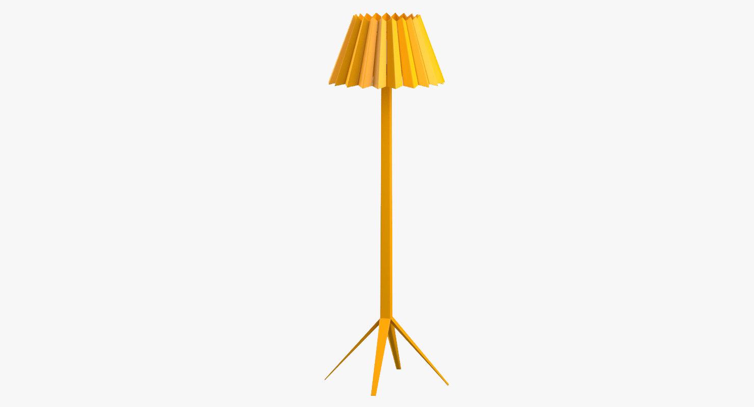 3D modern standing lamp interior model