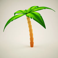 palm tree cartoon model