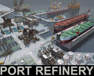 3D refinery ships oil
