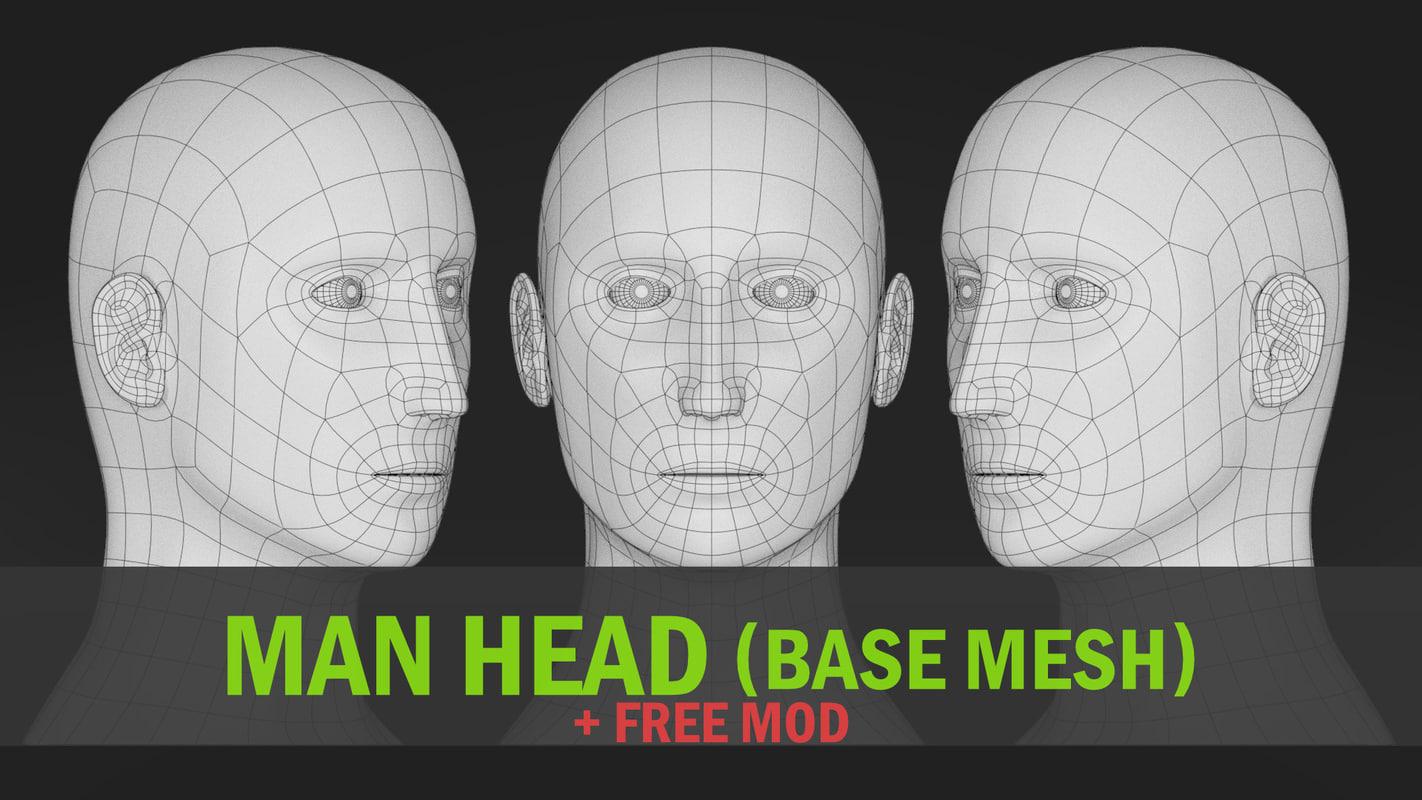 head base mesh model