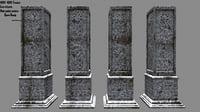 3D pillar snow model
