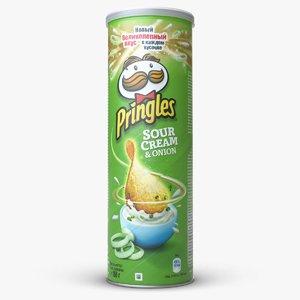 pringles chips sour cream 3D model