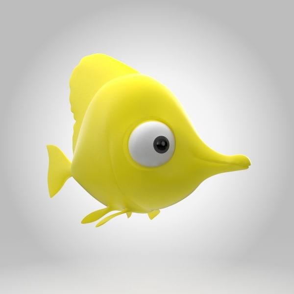 yellow tang 3D model