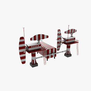3D realistic radar tesla model