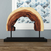 wooden decoration stand model