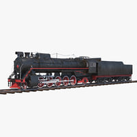 3D steam locomotive fd-20