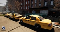 3D yellow taxi model