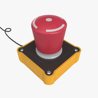 big red button 3D model