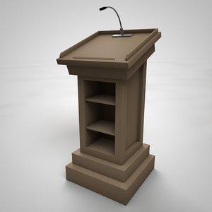 3D podium model