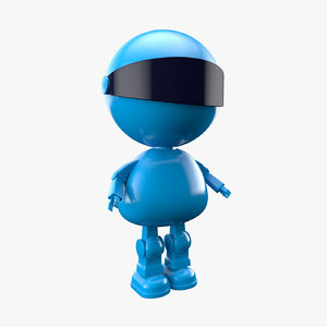 3D toy robot character model
