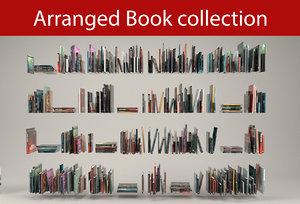 3D model arranged book