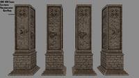 3D pillar model
