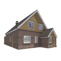 3D bungalow scene model