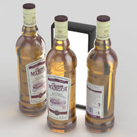 3D model queen margot whisky bottle