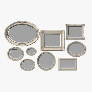 3D picture-mirror frame set model