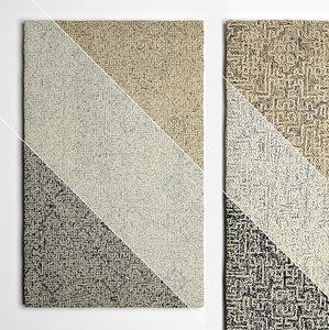wool rugs flooring 3D model