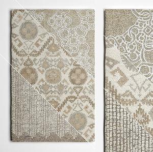 3D wool rugs flooring