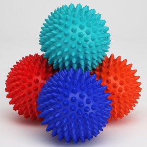 3D massage ball model