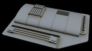 3D starship star model