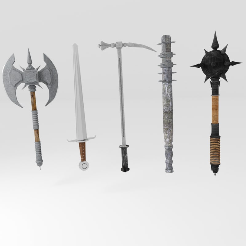 medieval weapons 3D model