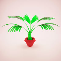 Cartoon plant Palm Tree