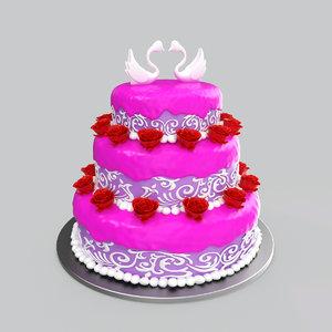 3D model wedding cake