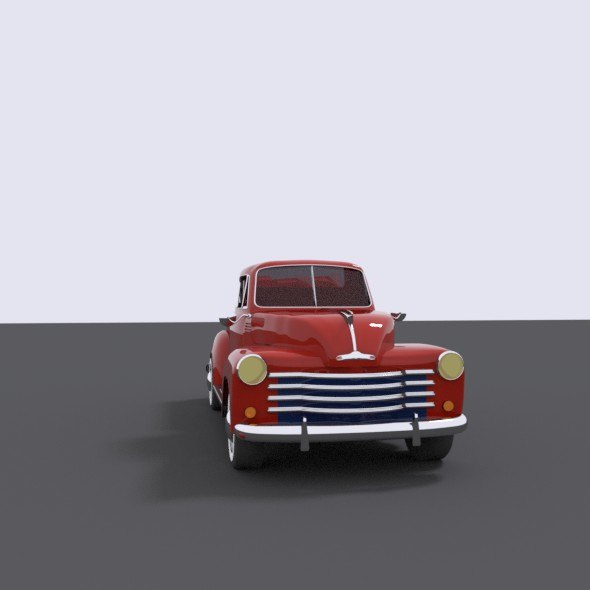 1951 chevrolet antique 3D