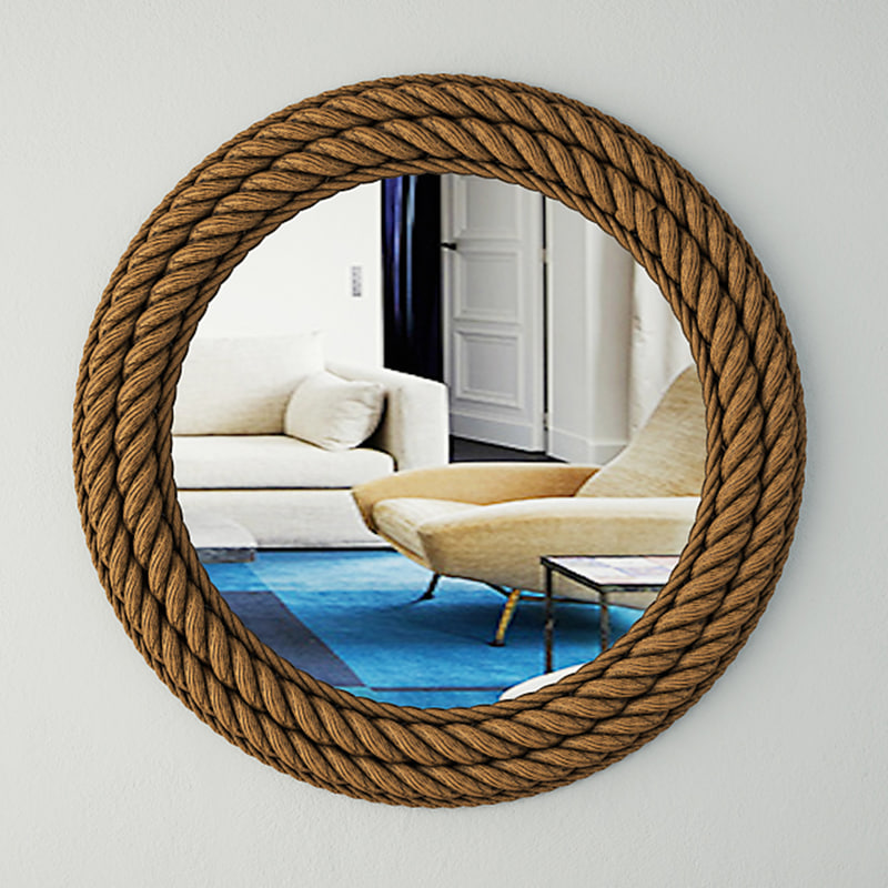 3D model nautical rope wall mirror