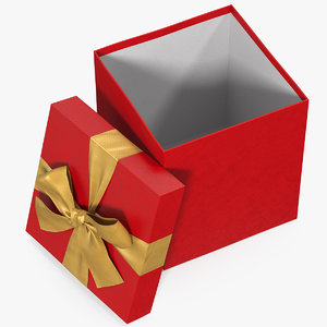 gift box open red model