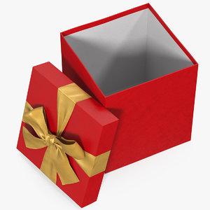 gift box open red model