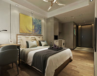 High-end small dwelling-size apartment hotel room