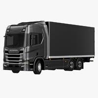 scania r 2017 box 3D model
