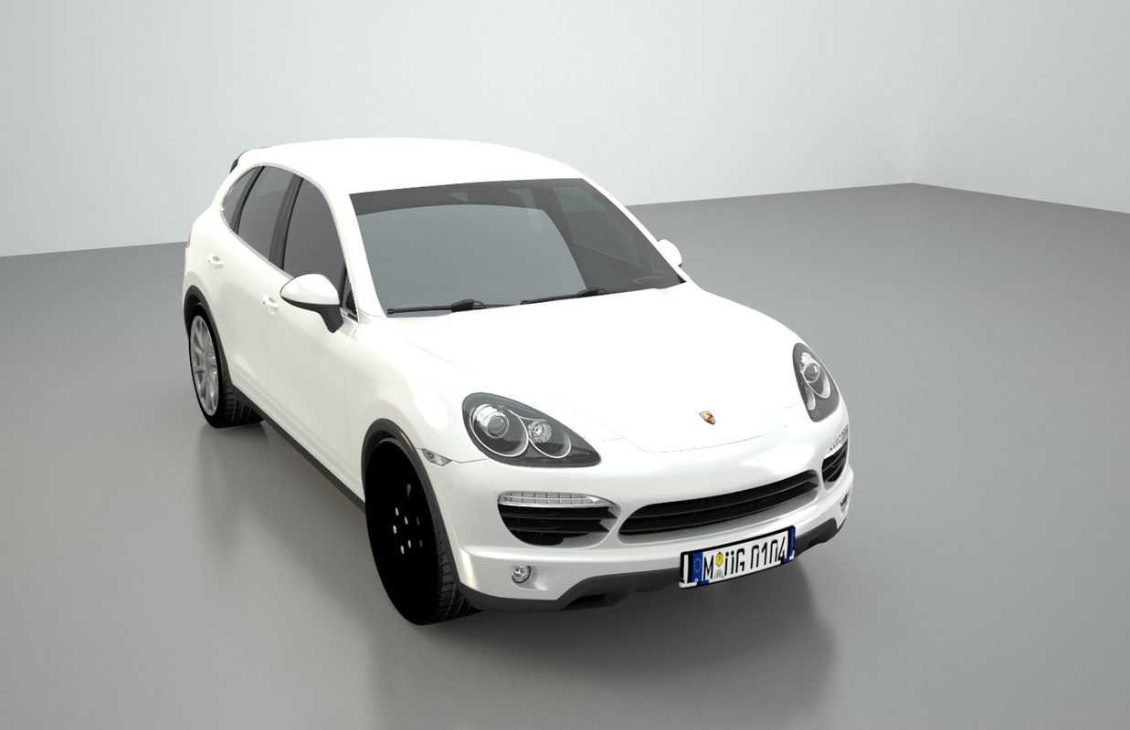 3D porsche cayenne car polly